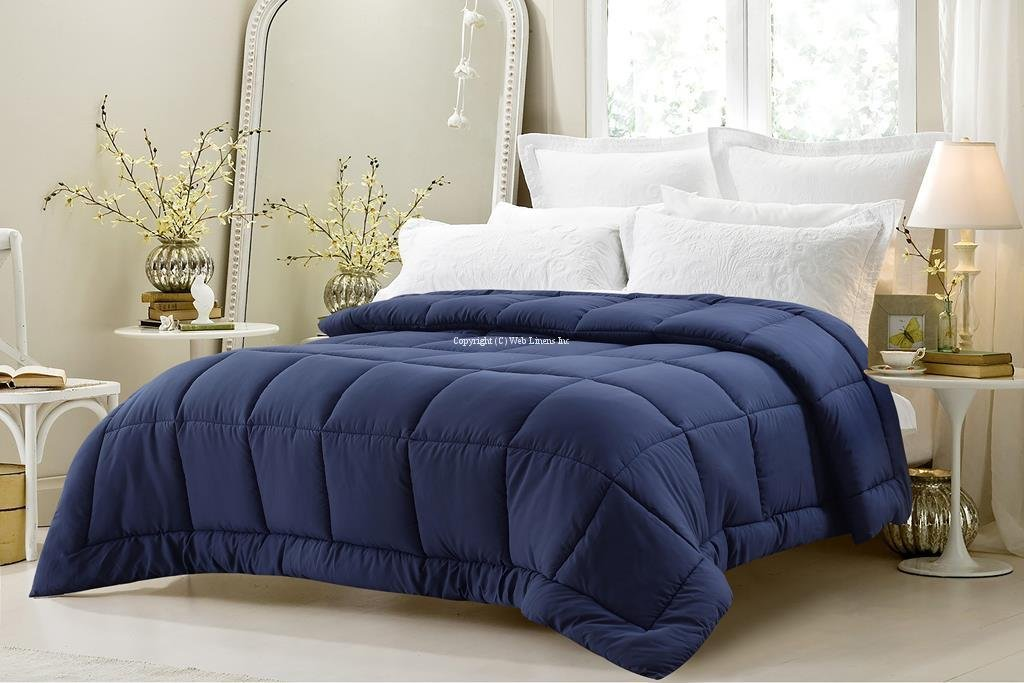 Super Oversized - Down Alternative Comforter - Fits Pillow Top Beds - King 110'' x 96'' - Navy - Exclusively by BlowOut Bedding RN #142035 by Web Linens Inc