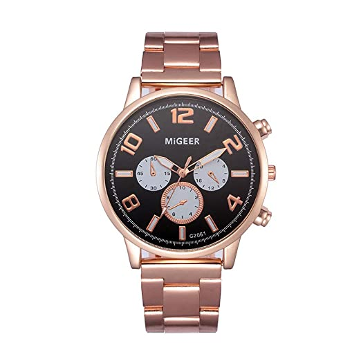 ... Steel Case Strap Wrist Watch on Clearance Simple Watches Black Face Casual Analog Quartz Watches on Sale on Clearance Relojes De Hombre: Watches