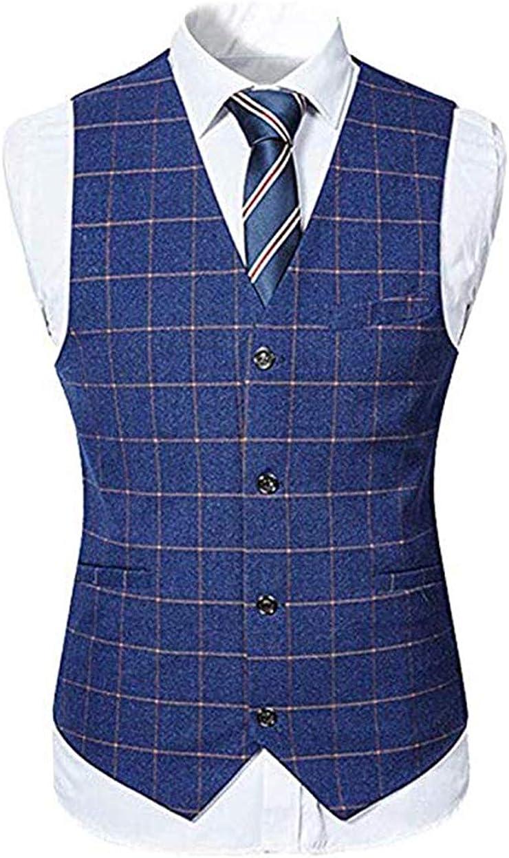 High-End Buffalo Plaid Men Suit Set Mordern Fit Wedding//Prom Suit for Men Jacket+Pant+Vest Groom Blazer Formal Suit