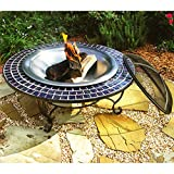 """Catalina Creations AD389 40"""" Mosaic Fire Pit with"""