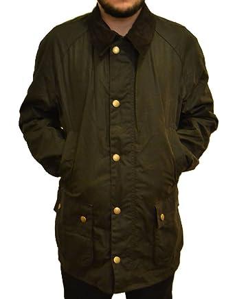 Barbour Men S Ashby Waxed Jacket Khaki Green Bbjk007 X Large At
