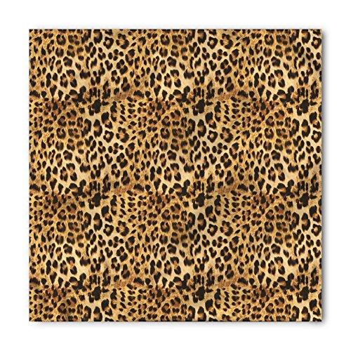 (Ambesonne Unisex Bandana, Brown African Leopard Print,)