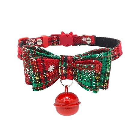 Gulunmun Christmas Snow Series Pet Collar para Perros Arnés Collar ...