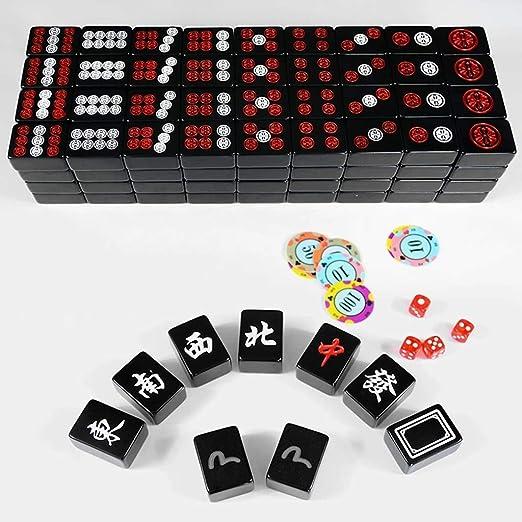 Mah Jong Azulejos Juegos de Mahjong Chino Juego de Mesa Conjunto Chino Tradicional Mahjong Entretenimiento for la Cultura China Amante de melamina: Amazon.es: Hogar