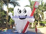 Inflatable4less Inflatable Tooth Advertising Dentist Ad Health Promotion Custom Made (20FT)
