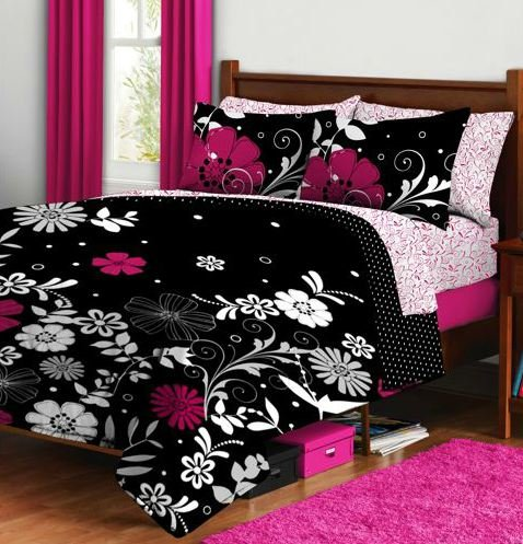 Pink And Black Comforter - 9