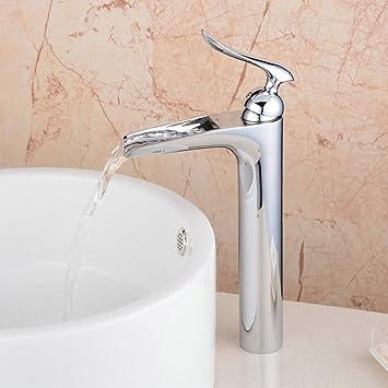 Hiendure contemporaine robinet d évier cascade salle de bains