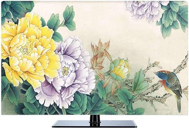 HBLZG Funda para Monitor poliéster a Prueba de Polvo antiestático LCD/LED/HD Panel Case Pantalla Funda Protectora TV Curva Compatible, TV de Escritorio y TV Colgante 22-80 pulgadas-48Pulgada-A: Amazon.es: Hogar