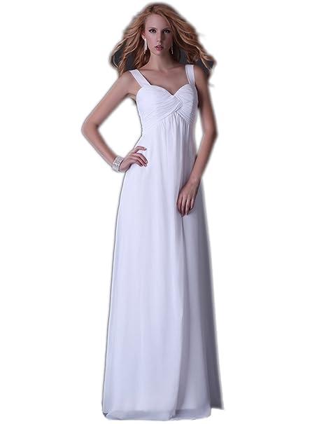Quissmoda vestido novia corto largo fiesta, noche, gala, talla 50, color blanco