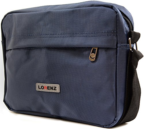 Sleek Bag Mens 'Small Messenger' Work Navy Shoulder Style Canvas Travel Ladies q5wrI5zf