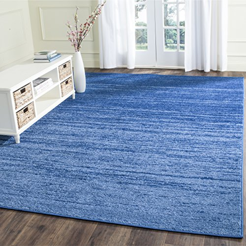 8sq Light Blue Color - Safavieh Adirondack Collection ADR113F Light Blue and Dark Blue Modern Abstract Square Area Rug (8' Square)