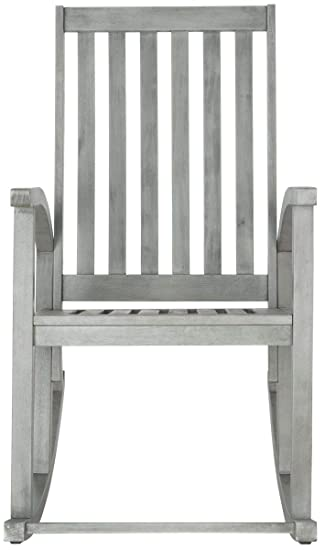 Amazing Safavieh Outdoor Collection Clayton Rocking Chair Grey Wash Ocoug Best Dining Table And Chair Ideas Images Ocougorg