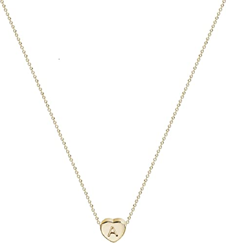 Pink Box Infinity Heart Initial Necklace R Gold