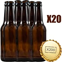 Botellas vacias de cerveza 33cl reutilizables con chapa