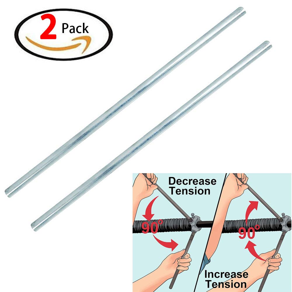 18'' Steel Winding Rod for Torsion Spring, 304 Stainless Steel Winding Bars, Garage Door Winding Bars, Garage Door Accessories, Pack of 2