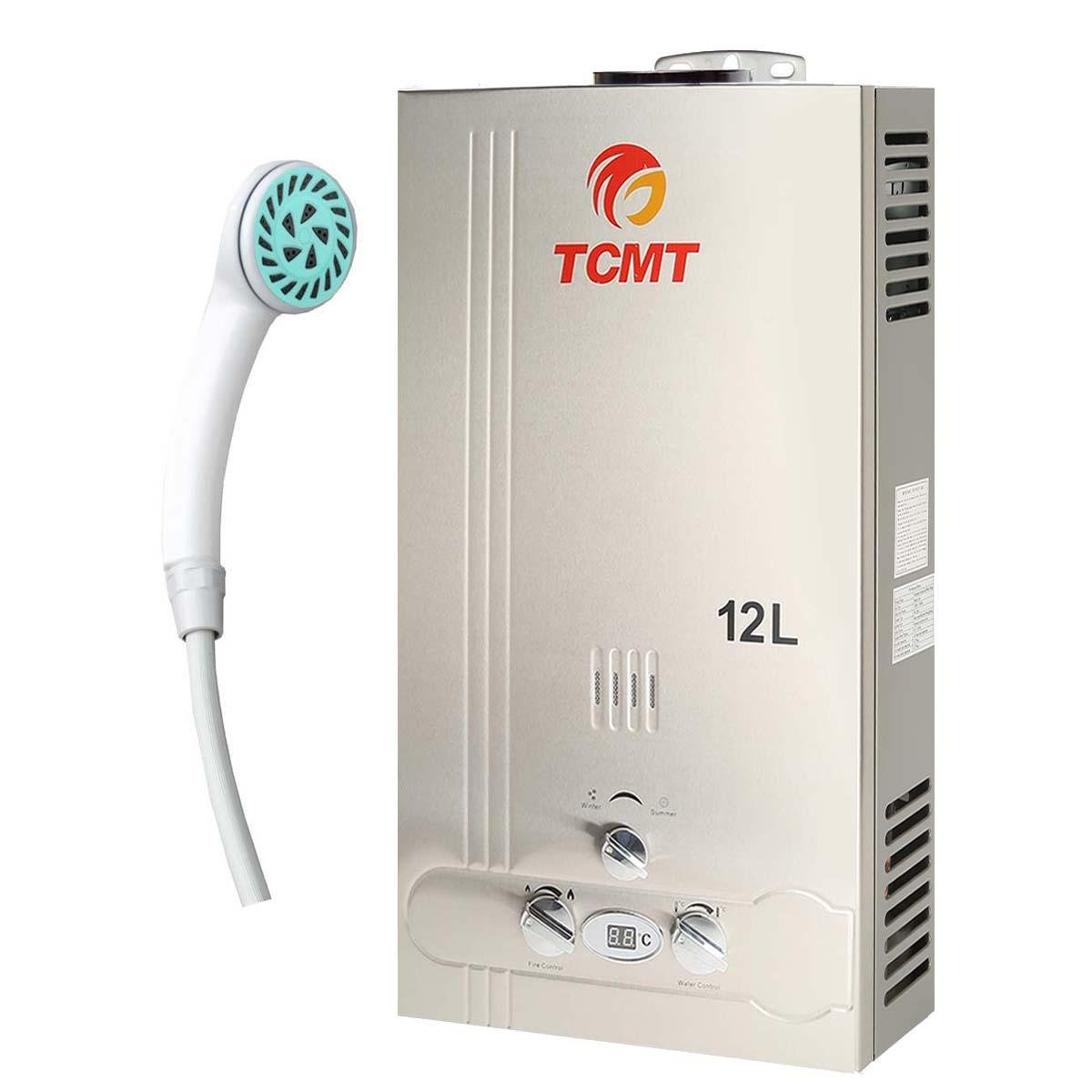 TC-Home 12L Natural Gas Tankless Hot Water Heater 3.2GPM Instant Bolier Stainless Steel