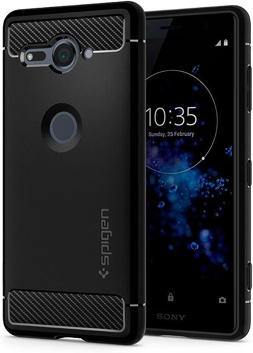 Spigen® Sony Xperia XZ2 Compact [Rugged Armor] Absorción de Choque ...
