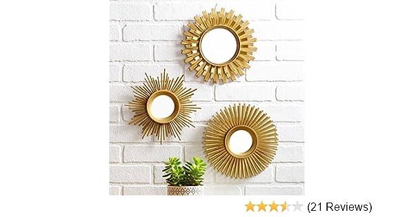 c9df042d8e2d Amazon.com  3-Piece Sunburst Wall Mirror Set