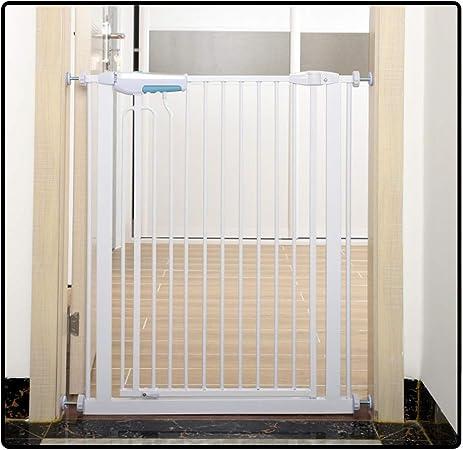 QIANDA Barrera Seguridad Niños Protector Escaleras Bebe Pared Metal Extensible Ajuste Puerta/Escalera Sin Taladrar En Cualquier Sitio, Adecuado for Espacios De 75-195cm (Size : 145-150cm): Amazon.es: Hogar