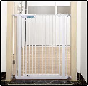 QIANDA Barrera Seguridad Niños Protector Escaleras Bebe Pared Metal Extensible Ajuste Puerta/Escalera Sin Taladrar En Cualquier Sitio, Adecuado for Espacios De 75-195cm (Size : 130-135cm): Amazon.es: Hogar