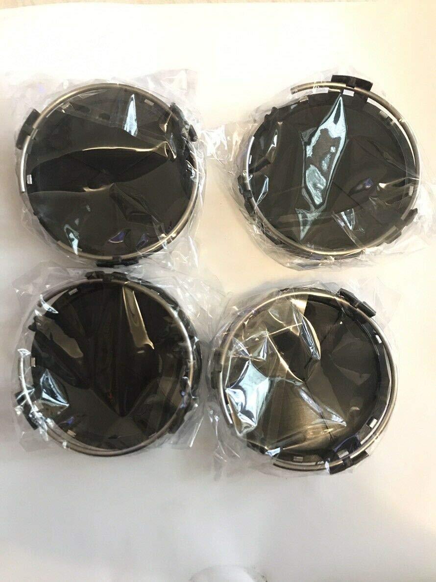 Tapacubos para Mercedes-Benz Color Negro Brillante AMG 4 Unidades, 75 mm