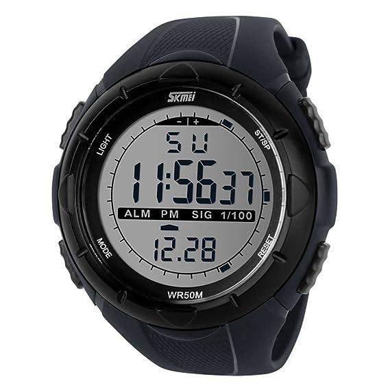 Yijia Skmei marca de lujo hombre estudiantes relojes deportivos Led Digital Reloj Militar Casual Exterior Resistente