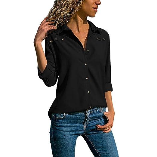 d6c467ebe7 Dimanul T Shirt for Women Polo Long Sleeve T Shirt V Neck Pullover ...
