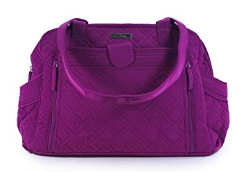 Image Unavailable. Image not available for. Color  Vera Bradley Women s  Stroll Around Baby Bag Microfiber Plum 08fe3078f62f1