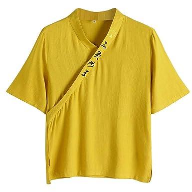 MOTOCO Camisa Manga Corta Hombre Plus Size Solid: Amazon.es: Ropa ...