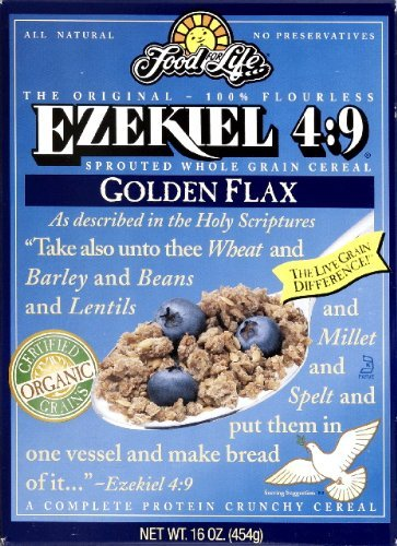 Ezekiel 4:9, Sprouted Whole Grain Cereal, Golden flax, 16 oz (454 g) by Food for Life