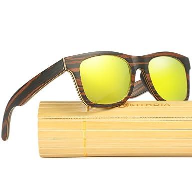3e9892ef1d84 KITHDIA Brand Men   Women Polarized Wood Sunglasses Retro Bamboo Sunglasses  Case