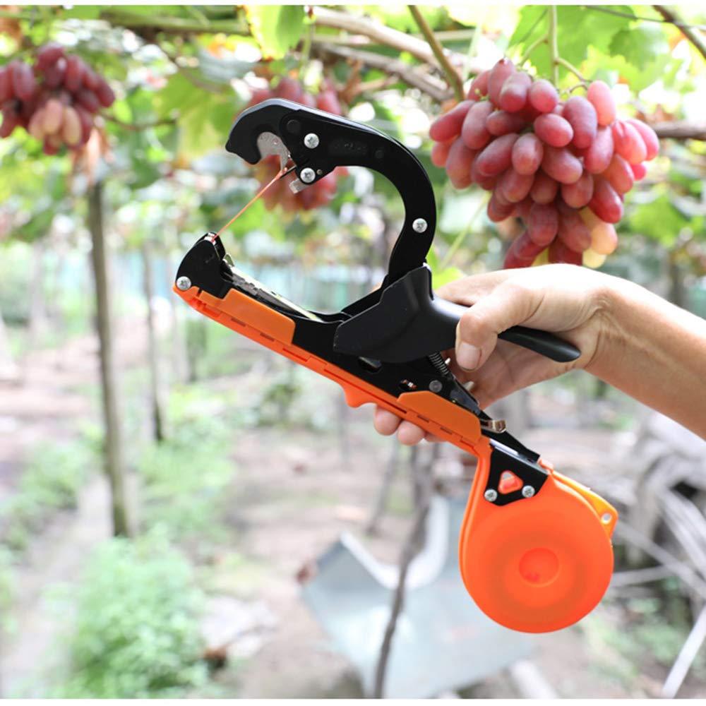 Outile de Jardinage Plant Tape Tying Tool Machine a Attacher Branche a Attacher Outil pour Planter Raisin Tomate L/égumes Fruits Fleurs Machine /À Taper Nouer Plante