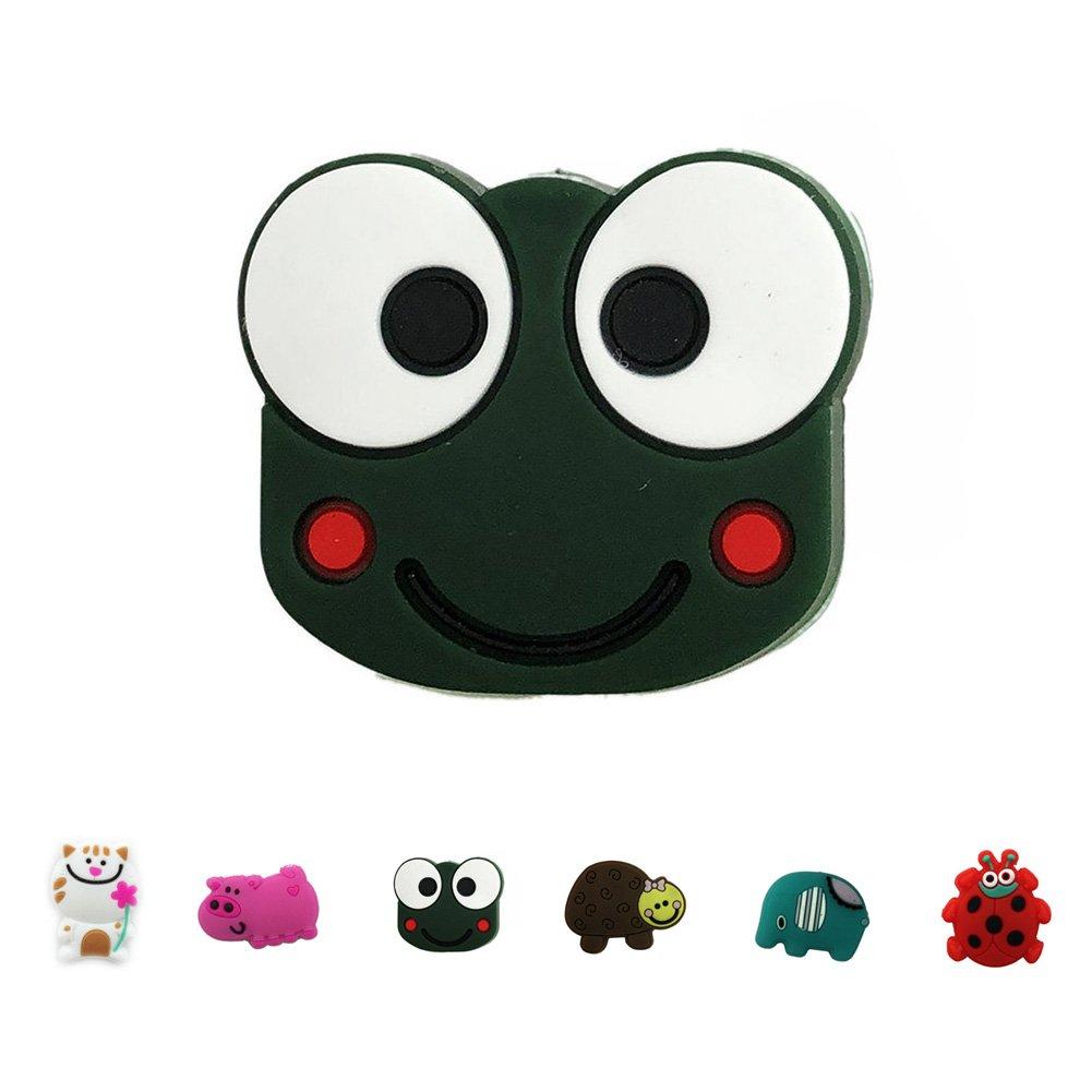umido ammortizzatore ammortizzatore per 2/confezioni Cartoon Animal silicone tennis Vibration Dampeners # 4