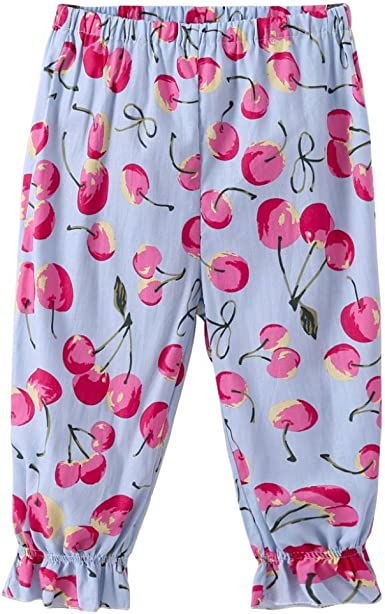 Flower Leggings Bloomers Pants Baby Summer Floral Kids Trousers Waist Printed