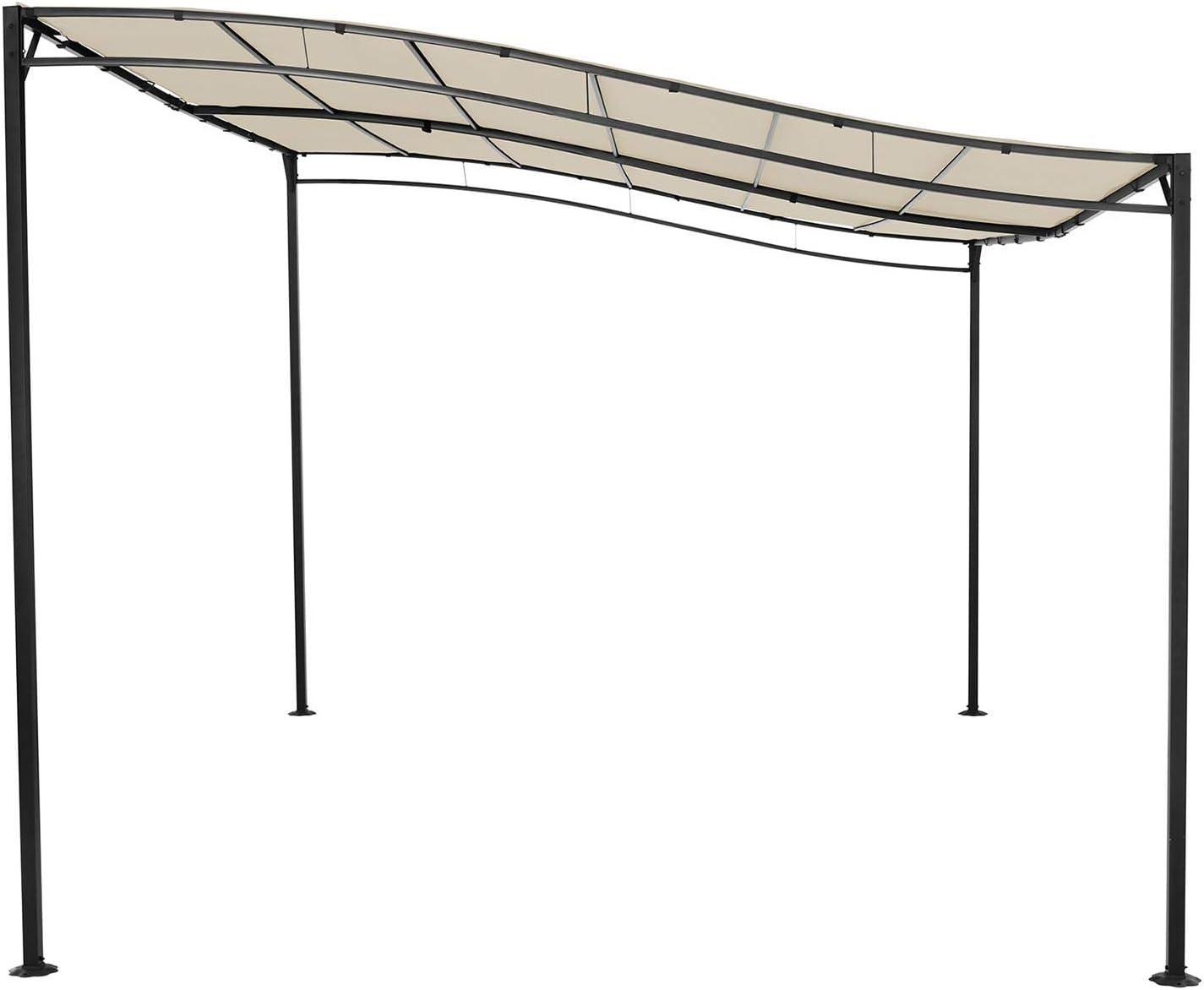 Uniprodo Pérgola De Metal Pabellón para Terraza Uni_Gazebo_3X4B (Toldo de 3 x 4 m, 180 g/m², Altura Total: 2, 40 m, Color Crema): Amazon.es: Jardín