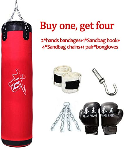 "39/"" 100CM Training Fitness MMA Boxing Heavy Sand Punching Bag Boxing Golves"