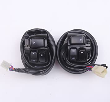 Amazon.com: New 2pcs Handlebar Control Switches+Wiring ... on racing switches, motor switches, ignition switches, lever switches, battery switches, headlight switches, hub switches, brake switches,