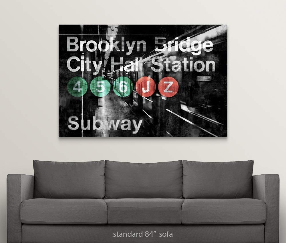 Amazon.com: Gallery-Wrapped Canvas Entitled NYC Subway ...