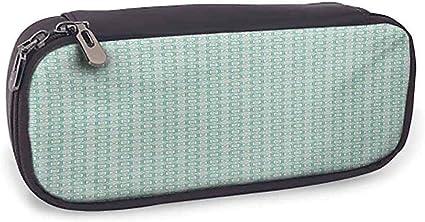 Estuche de lápices Verde azulado y hermoso Patrón Patrón geométrico de estilo retro con cuadrados Mosaico en colores pastel; Turquesa pálido: Amazon.es: Oficina y papelería