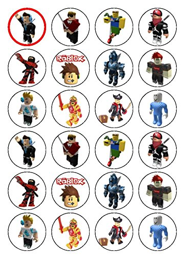 """Roblox Edible Icing Cupcake Toppers 2/"""" Sheet of 15 PRE-CUT"""