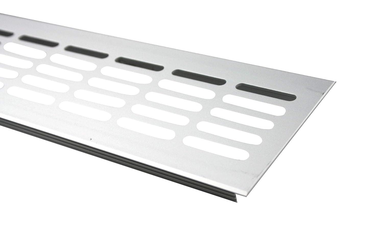 Rejillas Ventilaci/ón Placa del puente ventilaci/ón de aluminio 80mm x 300mm en diferentes colores E6C31 Acero inox anodizado