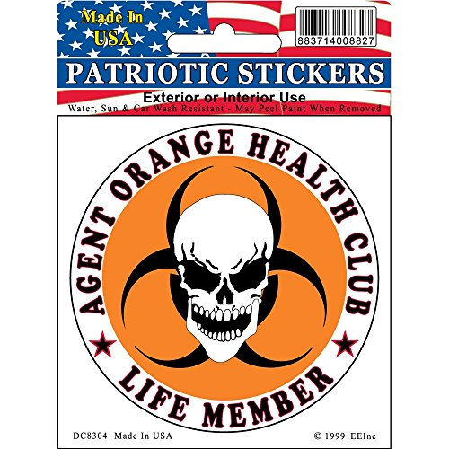 - Agent Orange Health Club Life Member Vietnam Sticker 3-1/4