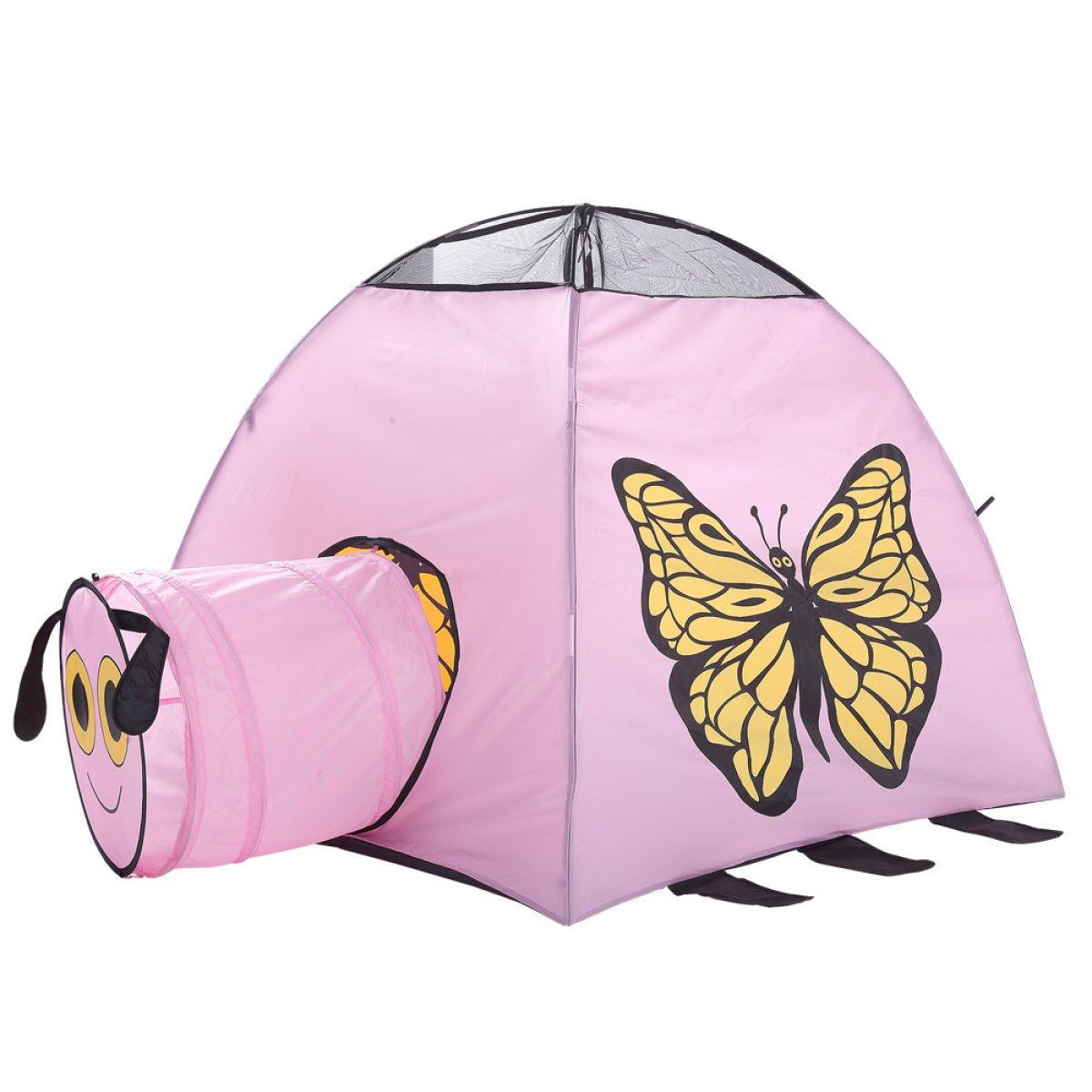 WAZY Tienda de campaña para niños tienda de campaña túnel de malla neta Casa de mariposa juguetes para bebés bola de castillo piscina Princesa mosquitera