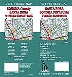 Santa Rosa / Sonoma County / Petaluma / Rohnert Park, California Street Map