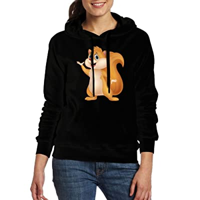 Squirrel Costume Women Hoodies Fashion Cotton Long Sleeve Pullovers With Pocket