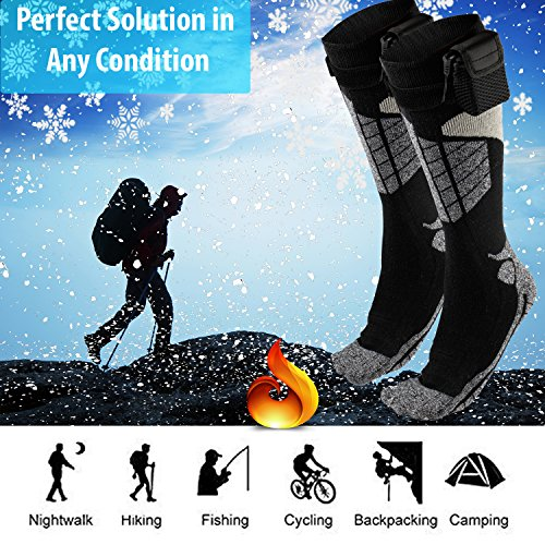 Battery Operated Winter Foot Warmers For Adults Men /& Women Heated Electric Warm Thermal Socks Patterns and Colors Will Vary Warming Socks Get Toes Warm In Cold Weather Outdoors Or Indoors