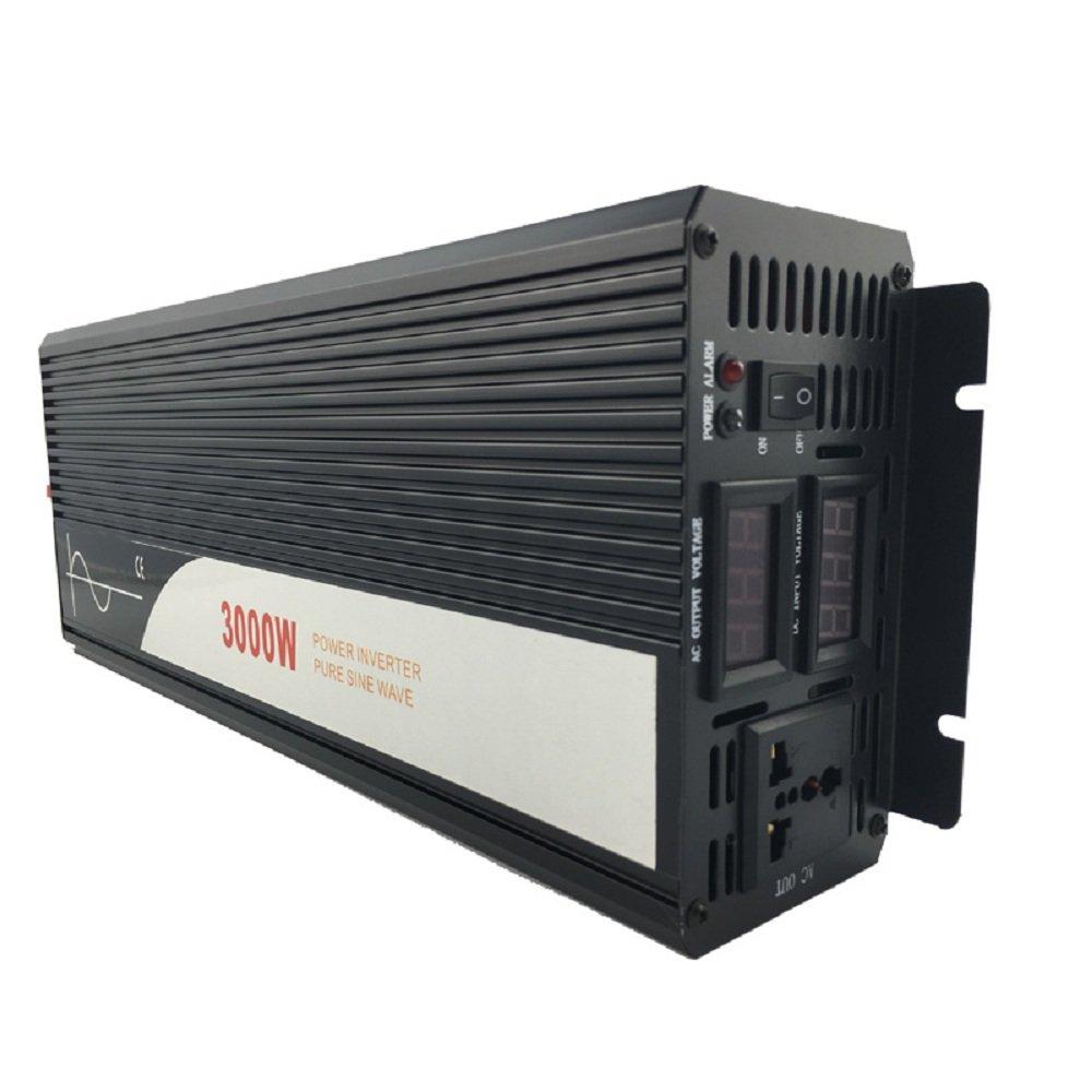 Xijia 3000W (Peak 6000W) Pure Sine Wave power Inverter DC 24V 48V to AC 120V 60HZ Solar converter For Home Use car (DC 48V to AC 120V)