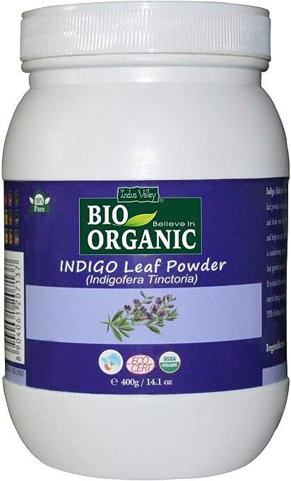 Pure Natural 400 grams Indigo Leaf Powder Jar (indigofera tinctoria) Certified Bio Organic Microfine para teñir el cabello