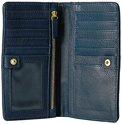 Fossil Caroline Rfid Slim Bifold Wallet Navy Multi Stripe Wallet