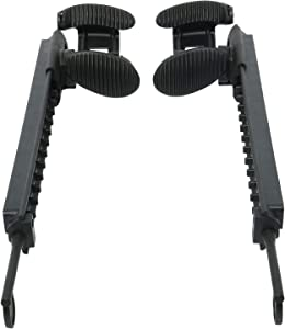 NovelBee Pair Adjustable Locking Foot Braces Pedals Foot Pegs for Kayak Boat Direction Control (Left and Right)